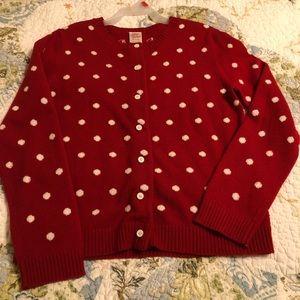 Girls size 7/8 Steve&Barry's red polka dot sweater